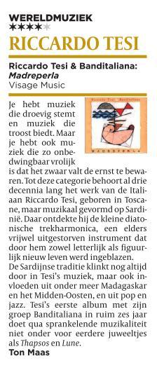 Riccardo Tesi su De Volkskrant (NL)